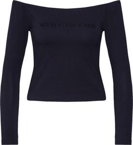 Czarna bluzka Calvin Klein hiszpanka w stylu casual