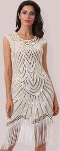 Sukienka Rare z okrągłym dekoltem w stylu retro