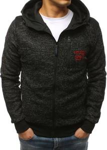 Czarna bluza Dstreet w stylu casual z bawełny