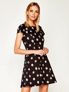 Czarna sukienka Max & Co. rozkloszowana z krótkim rękawem mini