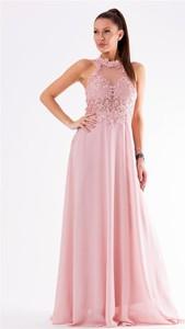 b0e1d92096 sukienka wieczorowa pudrowy róż - stylowo i modnie z Allani
