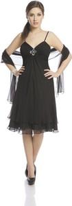 Czarna sukienka Fokus w stylu glamour