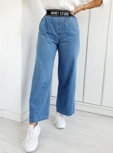 Niebieskie jeansy Ottanta w stylu casual z bawełny