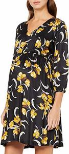 Sukienka amazon.de z długim rękawem z dekoltem w kształcie litery v