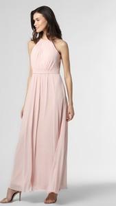Różowa sukienka Marie Lund z dekoltem w kształcie litery v bez rękawów