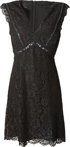 Czarna sukienka Pinko bez rękawów mini z dekoltem w kształcie litery v