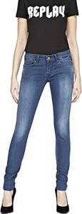 Niebieskie jeansy Replay w młodzieżowym stylu