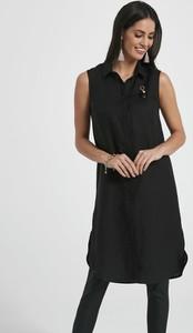 Czarna sukienka Ennywear bez rękawów z kołnierzykiem