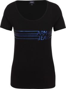 T-shirt Armani Jeans z bawełny z okrągłym dekoltem z krótkim rękawem