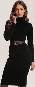 Czarna sukienka Renee z golfem