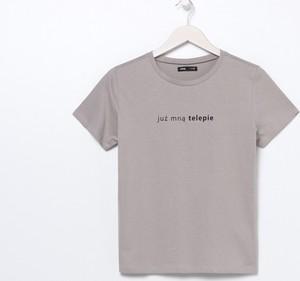 T-shirt Sinsay z krótkim rękawem w młodzieżowym stylu