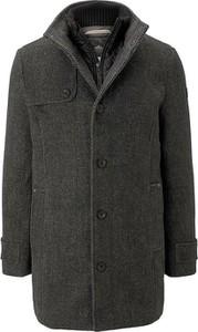 Czarna kurtka Tom Tailor z wełny w stylu casual