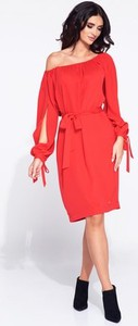 Sukienka Bien Fashion z tkaniny z długim rękawem