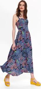 Sukienka Top Secret gorsetowa maxi z dekoltem w kształcie litery v