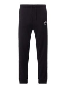 Czarne spodnie Boss Athleisurewear Plus z bawełny