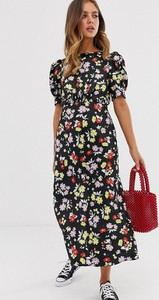 Sukienka Asos maxi z krótkim rękawem