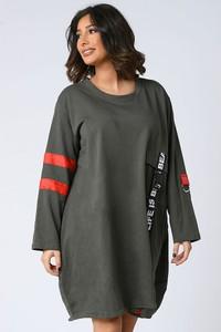 Sukienka Plus Size Company w stylu casual z długim rękawem mini
