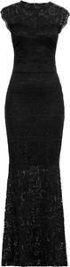 Czarna sukienka bonprix BODYFLIRT boutique na bal maxi
