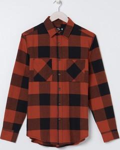 Czerwona koszula Sinsay w stylu casual z długim rękawem