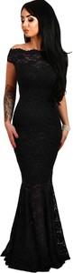 Elegrina sukienka wieczorowa z koronką calynda czarna