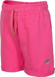 4f junior spodenki dresowe dla małych dziewczynek jskdd101 - neonowy róż - 4f