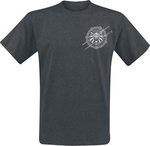 Czarny t-shirt Emp w młodzieżowym stylu z krótkim rękawem