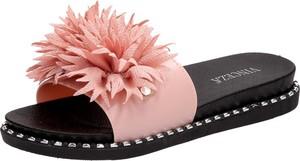 Różowe klapki Suzana w stylu casual