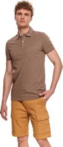 Koszulka polo Top Secret w stylu casual z bawełny z krótkim rękawem