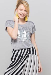 Bluzka Monnari w stylu glamour z krótkim rękawem