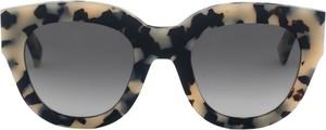 Czarne okulary damskie Monokel