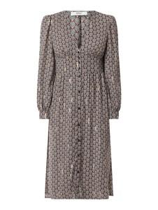 Brązowa sukienka Only z dekoltem w kształcie litery v w stylu casual