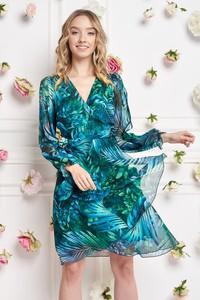 Zielona sukienka Ella Boutique z długim rękawem