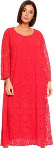Sukienka Plus Size Fashion midi z okrągłym dekoltem oversize
