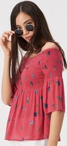 Różowa bluzka Sinsay z krótkim rękawem