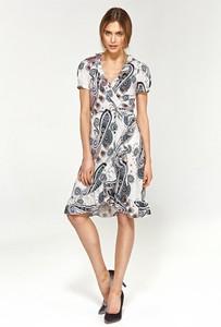 Sukienka Merg z dekoltem w kształcie litery v z krótkim rękawem