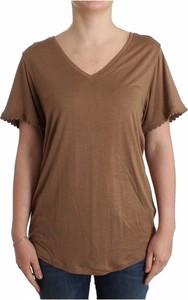 Brązowy t-shirt John Galliano w stylu casual