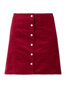 Czerwona spódnica Calvin Klein z bawełny