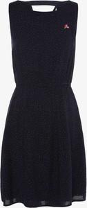 Sukienka Tom Tailor Denim bez rękawów rozkloszowana z okrągłym dekoltem