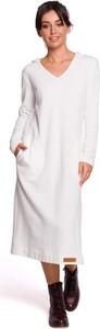 Sukienka MOE z długim rękawem z dekoltem w kształcie litery v maxi