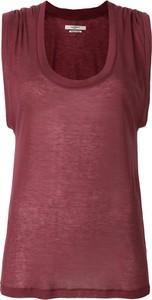Czerwona bluzka Isabel Marant bez rękawów
