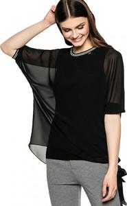 Czarna tunika L'AF z tkaniny