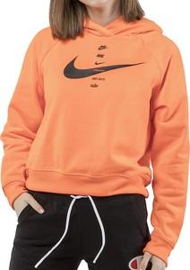 Pomarańczowa bluza Nike z bawełny w sportowym stylu krótka