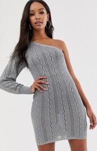 Srebrna sukienka Asos mini