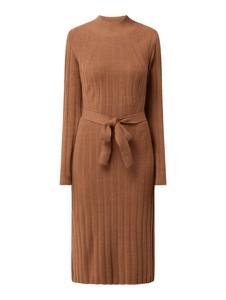 Brązowa sukienka Only z długim rękawem z dzianiny w stylu casual