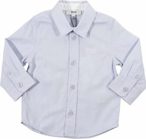 Niebieska koszula dziecięca Hugo Boss z bawełny