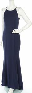Niebieska sukienka Jarlo z okrągłym dekoltem maxi