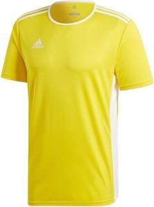 Żółty t-shirt Adidas z krótkim rękawem