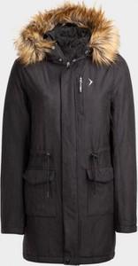 Czarna kurtka Outhorn długa w stylu casual