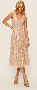 Sukienka Trussardi Jeans z dekoltem w kształcie litery v