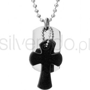 Silverado Ciekawy naszyjnik z zawieszką w kształcie krzyża - 77-WA326B